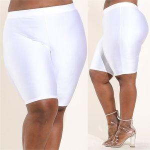 Pants - NEW NYLON SPANDEX BIKING SHORTS WHITE 123X